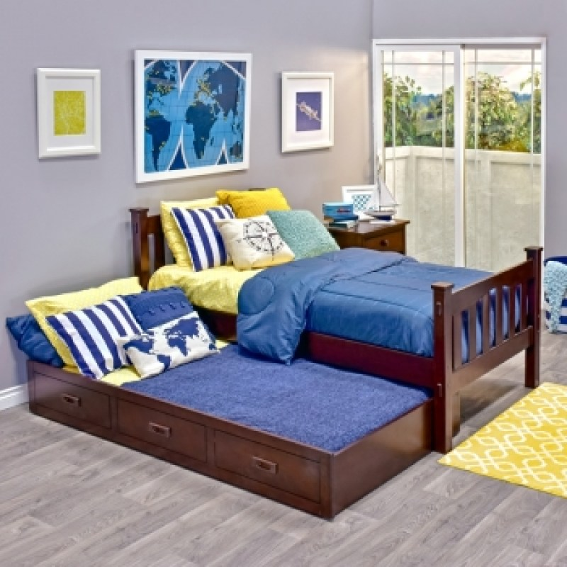 Cameron Hardwood Trundle Bed