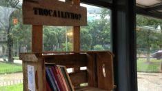 Projeto estimula a leitura em pontos de ônibus