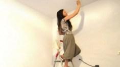 Deslumbrante: artista faz pintura invisível – até que as luzes se apagam