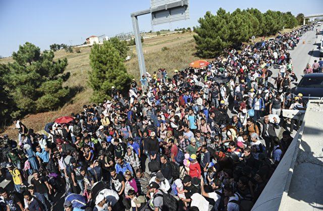 Migranten in der Türkei. Foto:BULENT KILIC/AFP/Getty Images