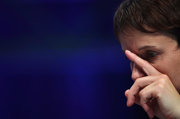 AfD-Frontfrau Frauke Petry Foto: PATRIK STOLLARZ/Getty Images