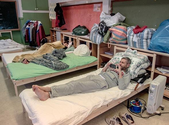 Flüchtlingsunterkunft in Schweden Foto: David Ramos/Getty Images