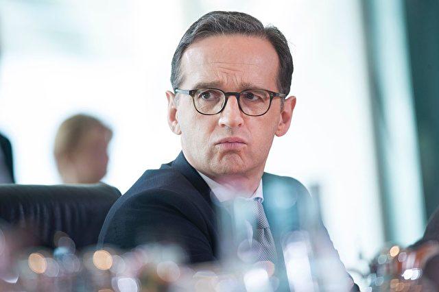 Ein Auftritt von Justizminister Heiko Maas geriet heute in Zwickau zum Desaster. Foto: STEFFI LOOS/AFP/Getty Images