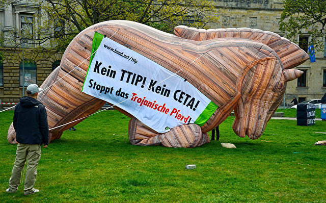 Kein TTIP, kein CETA, Proteste in Hannover Foto: Sascha Schuermann/Getty Images