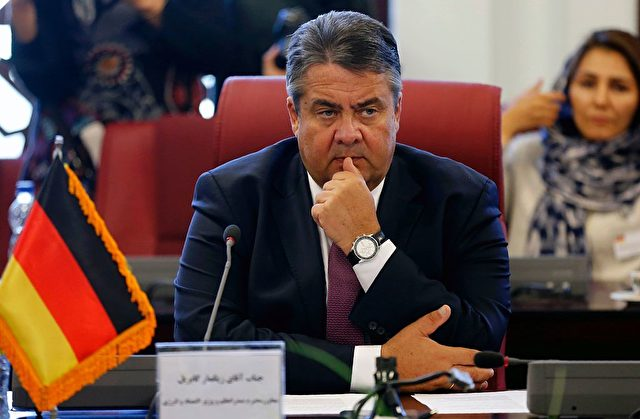 SPD-Chef Sigmar Gabriel auf einer Konferenz in Teheran am 3. Oktober 2016. Foto: ATTA KENARE/AFP/Getty Images