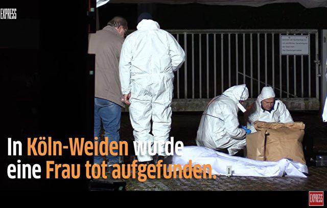 In Köln wurde diese Nacht eine tote Frau auf einem Schulweg aufgefunde. Foto: Screenshot/Youtube
