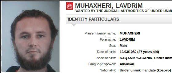 "Interpol is also looking for Lavdrim Muhaxheri, a leading general of the ""Islamic State"", who is feared that he came as a refugee disguised in Europe. Photo: screenshot / epochtimes"