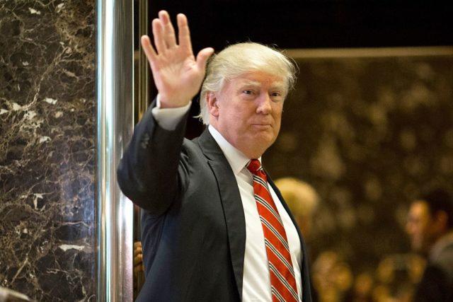 Donald Trump im Trump-Tower. 16. Januar 2017. Foto: DOMINICK REUTER/AFP/Getty Image