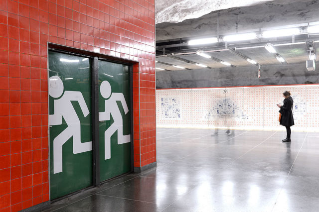 U-Bahnstation in Schweden. (Symbolbild) Foto: JONATHAN NACKSTRAND/AFP/Getty Images