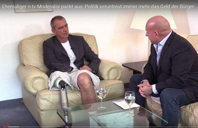 Michael Mross im Gespräch mit Heiko Schrang bei Schrang TV. Foto: Screenshot