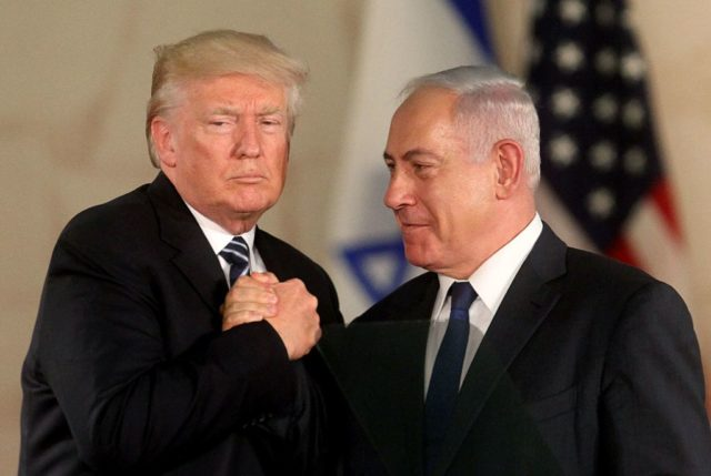 US-Präsident Donald Trump (l) und Israels Premierminister Benjamin Netanjahu. Foto: AFP/Getty Images