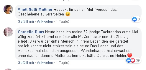 Facebook-Post von Cornelia Duus. Foto: facebook screensthot