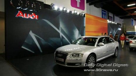 Стенд Audi. Флагманский седан A8. Фото: 3dnews.ru