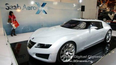 Стенд компании Saab. Концепт AeroX. Фото: 3dnews.ru