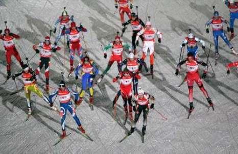 В Оберхофе (Германия) в рамках четвертого этапа Кубка мира по биатлону прошла мужская эстафета 4х7,5 км. Фото: Christof Koepsel/Bongarts/Getty Images
