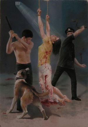 Чтобы заставить последователей Фалуньгун «раскаяться» и отречься от своих убеждений, к ним в Китае применяют многочисленные виды жестоких пыток. Фото с minghui.org