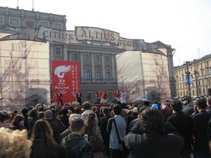 Санкт-Петербург во время проноса факела олимпийских игр. Фото: Юрий Дроздов/Великая Эпоха