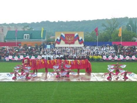 Китайский танец в предверии Олимпиады. Фото: Елена Захарова/Великая Эпоха