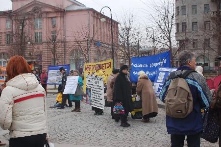 Последователи Фалуньгун Санкт-Петербурга рассказывают о репрессиях в Китае. Фото: Великая Эпоха
