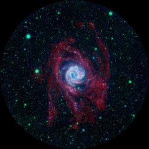 На окраинах Южной Вертушки обнаружено формирование звезд. Фото: NASA/JPL-Caltech/VLA/MPIA
