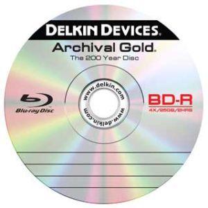 Blu-ray диск Delkin сохранит 25 Гб данных в течение 200 лет. Фото: Delkin Devices