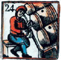Средневековый пивовар снимает пробу
