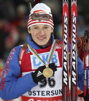 Максим Чудов стал победителем спринтеровской гонки на 10 км. Фото: Agence Zoom/Getty Images