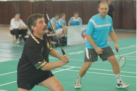 Сергей Шахрай и Андрей Антропов на корте. Фото: badm.ru