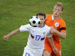 Российская сборная по футболу обыграла голландскую со счетом 3:1 и вышла в полуфинал! Фото: Евроспорт.ру