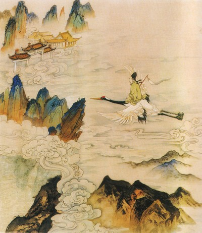 Те, кто не достигли критериев, чтобы находиться в мире Будды, однако всю жизнь старались совершенствовать в себе добродетели, после смерти попадают в небесный мир, выше нашего мира, и наслаждаются там небесным благоденствием.
