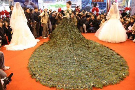 Фата «нефрит, перья, парча» стоимостью 1,4 млн. долларов. Фото с epochtimes.com