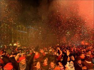 Празднование Нового Года в Амстердаме. Фото: С сайта xage.ru