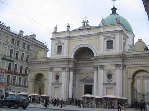 Церковь Св. Екатерины Александрийской, построенная на Невском проспекте в 1783 г. Фото: Кира ИВАНОВА/Великая Эпоха