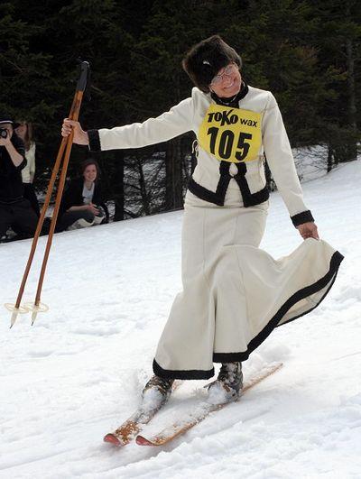 Польские пасхальные лыжные игры. Фото: JANEK SKARZYNSKI/AFP/Getty Images