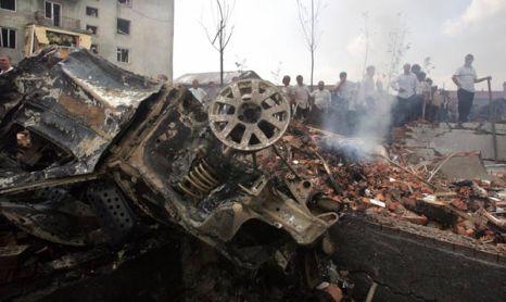В столице Ингушетии взорвано Городское управление внутренних дел. Фото: KAZBEK BASAYEV/AFP/Getty Images
