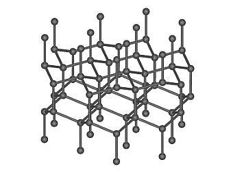 Компьютерная модель фрагмента кристаллической структуры лонсдейлита. Изображение пользователя Mstroeck с сайта wikipedia.org