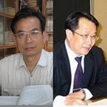 Профессор Чжань Цзанин (слева) и адвокат Мо Шаопинь. Фото: Радио «Голос надежды»