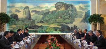 Официальная встреча барака Обамы и Ху Цзиньтао в Пекине. 17 ноября 2009 год. Фото: MANDEL NGAN/AFP/Getty Images