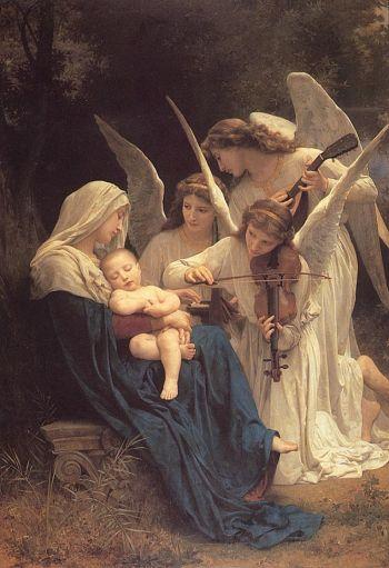 «Девственница с ангелами» или «Песня ангелов», Уильям Бугуеро, 1881, холст, масло, музей в Мемориальном парке Глендейле, Калифорния. Фото с сайта artrenewal.org