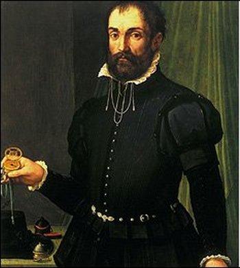 По мнению часовых дел мастеров, картина, написанная мастером времен Ренессанса Масо да Сан Фриано примерно в 1560 году, может быть единственным старейшим живописным полотном, на котором изображены механические часы. Фото  с сайта  news.bbc.co.uk