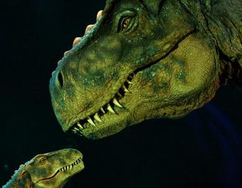 Шоу динозавров  «Динозавры - страна гигантов» 3 октября 2009 г. во Фрейбурге, Германия. Фото: Miguel Villagran/Getty Images