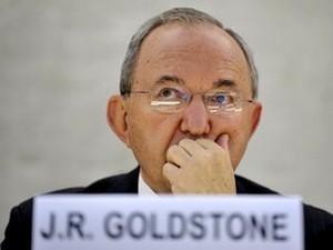 Серьезный удар Израилю: судья Ричард Гольдстон в Совете по правам человека ООН в Женеве, в конце сентября. Фото: AFP PHOTO /FABRICE COFFRINI