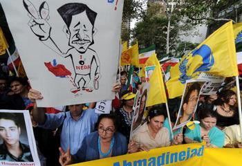 Протест против ядерной политики правительства Ирана. Фото: JEWEL SAMAD/AFP/Getty