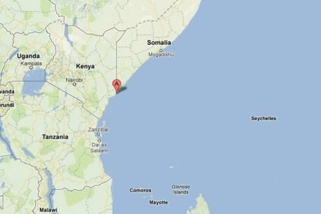 Скриншот от Google Maps показывает местоположение острова Мэнда в Кении. Там недавно была найдена 600-летняя монета из Китая. Фото: Скриншот для The Epoch TImes