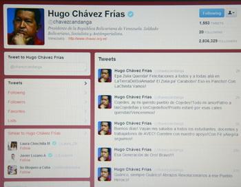 Уго Чавес правит страной через Twitter. Фото: Getty Images