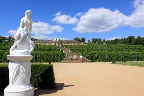 Вид на дворец Сан-Суси. Фото: Ирина Рудская/ The Epoch Times