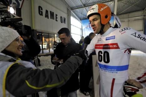 Австрийский лыжник Маттиас Ланцингер. Фото: Robert Van Den Berge/AFP/Getty Images