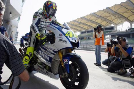 Валентино Росси в первый день тестов MotoGP в Сепанге (Малайзия) 4 февраля 2014  года. Фото: Mirco Lazzari gp/Getty Images
