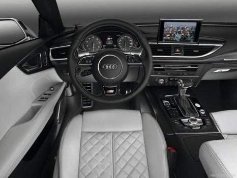 Салон Audi S7 Sportback, 2013. Фото: netcarshow.com
