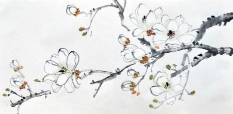 Орхидея. Художник Жу И